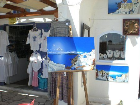 A shop at Santorini