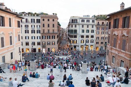 Spanish Steps, Top Down View