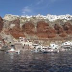Amoudi Port With Oia Above