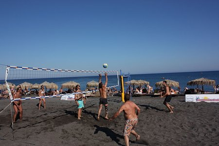 Volley Ball at Perivolos Beach