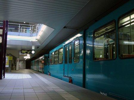 Frankfurt U-Bahn at Ostbahnhof