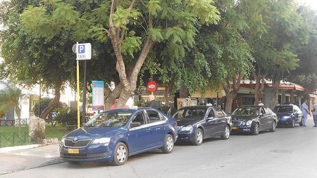 Taxi stand in Chania